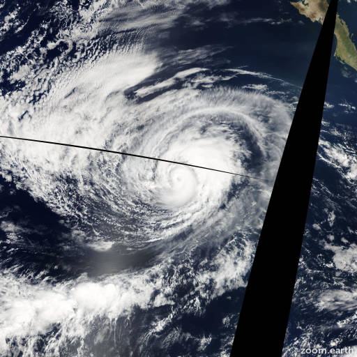 Satellite image of Hurricane Marie 2008