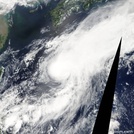 Satellite image of Storm Matmo 2008