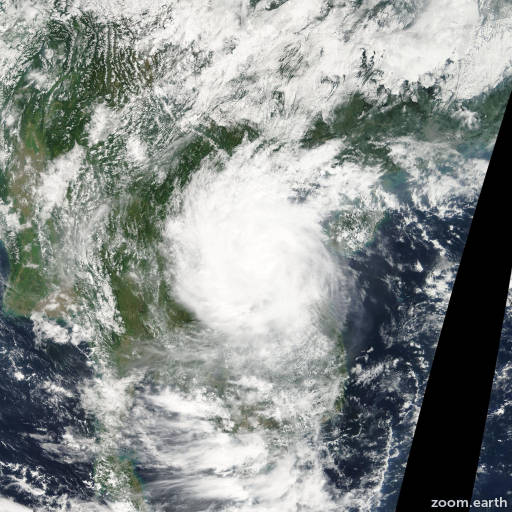 Satellite image of Storm Mekkhala 2008