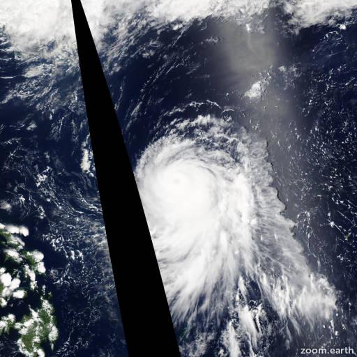 Satellite image of Typhoon Nakri 2008