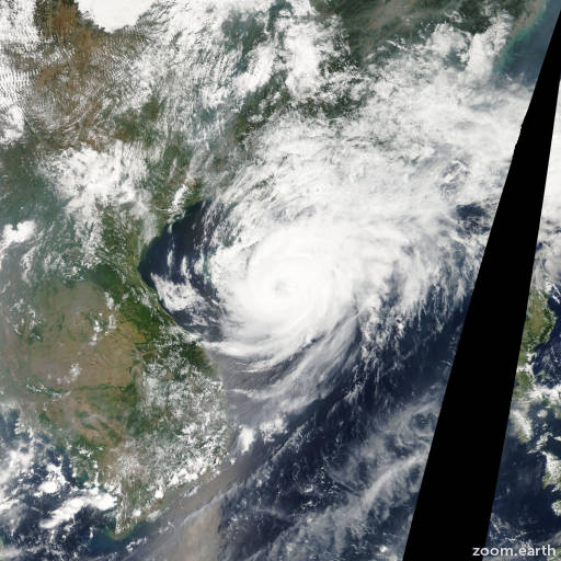 Satellite image of Typhoon Neoguri 2008