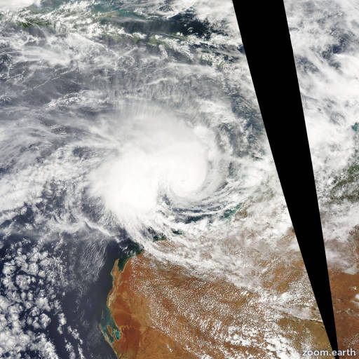 Satellite image of Cyclone Nicholas 2008