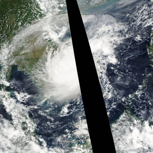 Satellite image of Storm Noul 2008