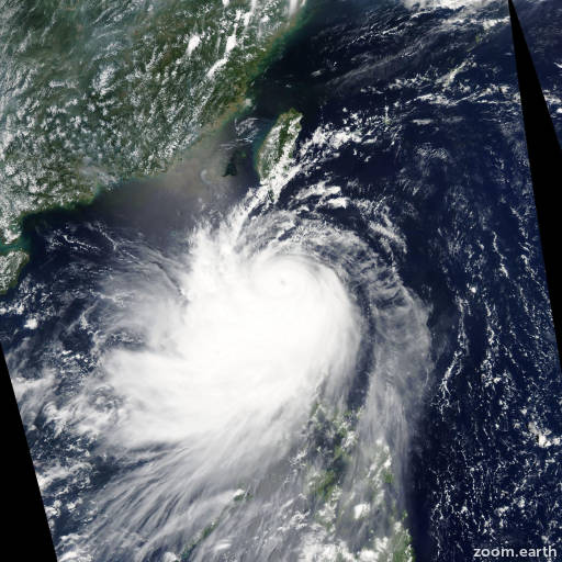 Satellite image of Typhoon Nuri 2008