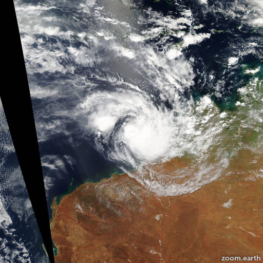 Satellite image of Cyclone Ophelia 2008