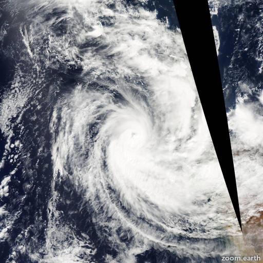 Satellite image of Cyclone Pancho 2008