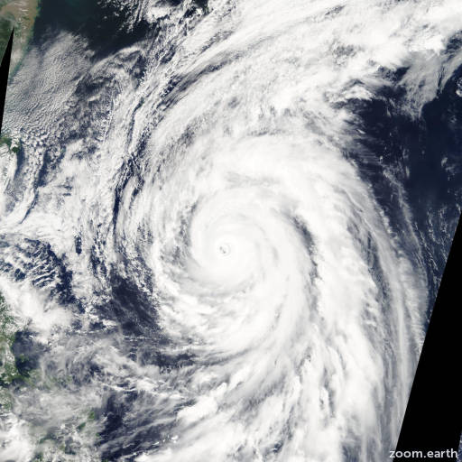 Satellite image of Typhoon Rammasun 2008