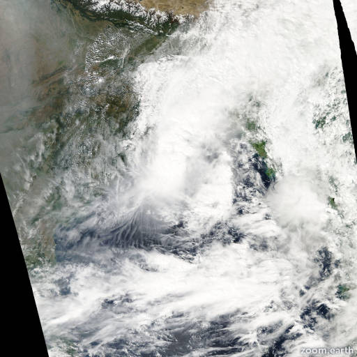 Satellite image of Cyclone Rashmi 2008