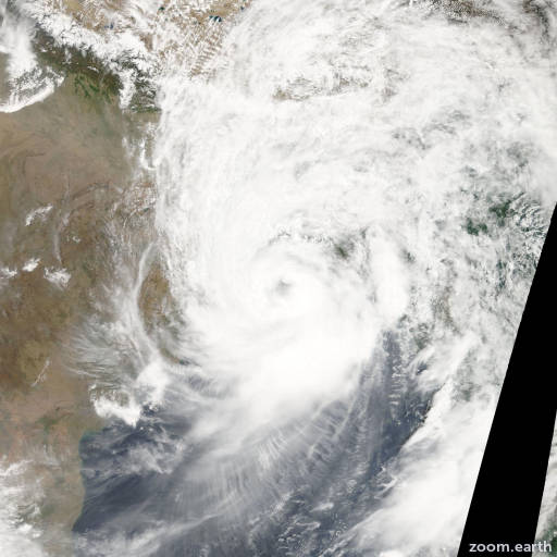 Satellite image of Cyclone Aila 2009