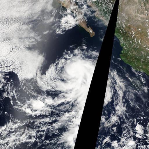 Satellite image of Storm Blanca 2009