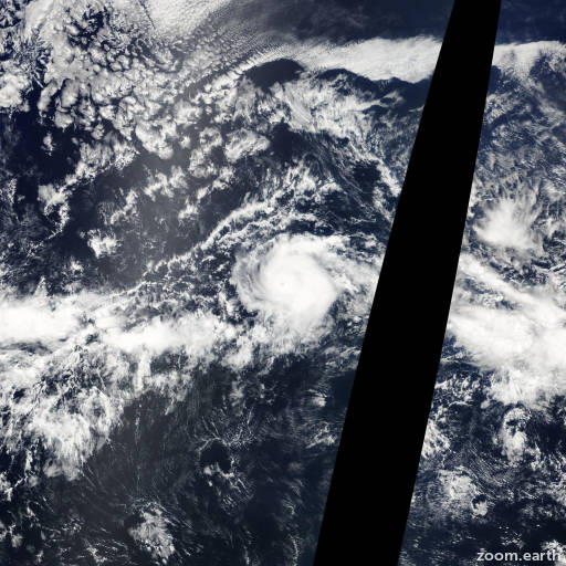 Satellite image of Hurricane Carlos 2009