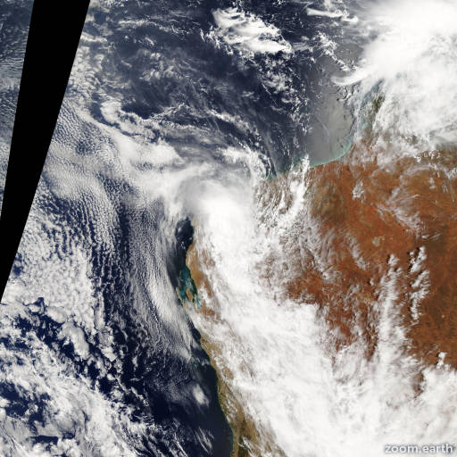 Satellite image of Cyclone Dominic 2009