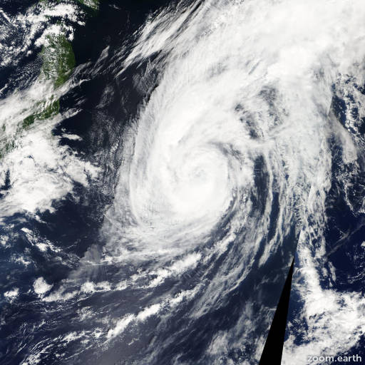Satellite image of Storm Dujuan 2009