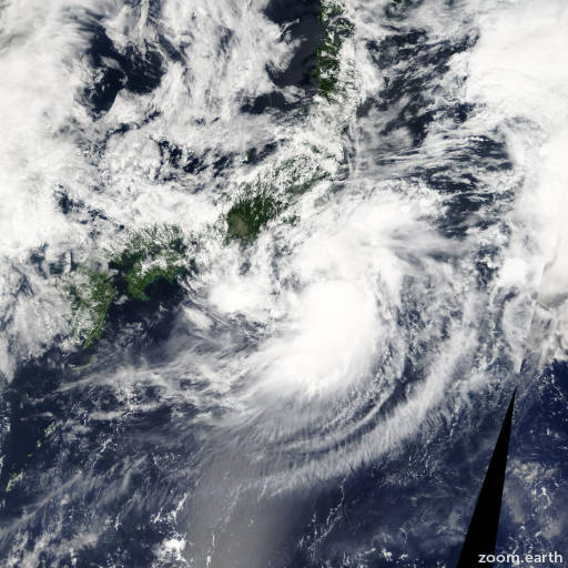 Satellite image of Storm Etau 2009