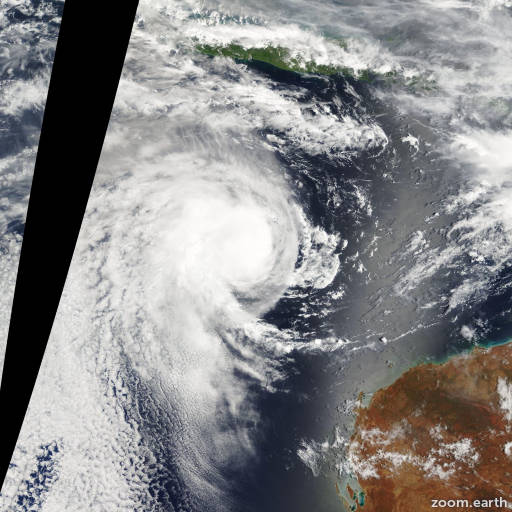 Satellite image of Cyclone Freddy 2009