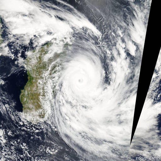 Satellite image of Cyclone Gael 2009