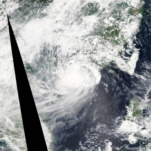 Satellite image of Storm Goni 2009