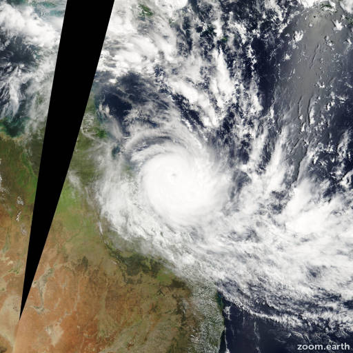 Satellite image of Cyclone Hamish 2009