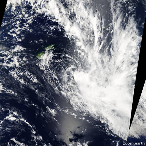 Satellite image of Cyclone Hettie 2009