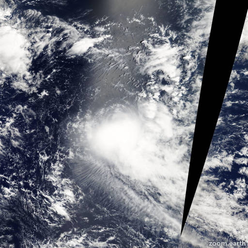 Satellite image of Storm Hina 2009