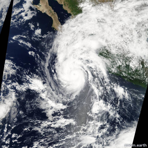 Satellite image of Hurricane Jimena 2009