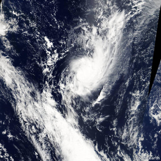 Satellite image of Cyclone Joni 2009