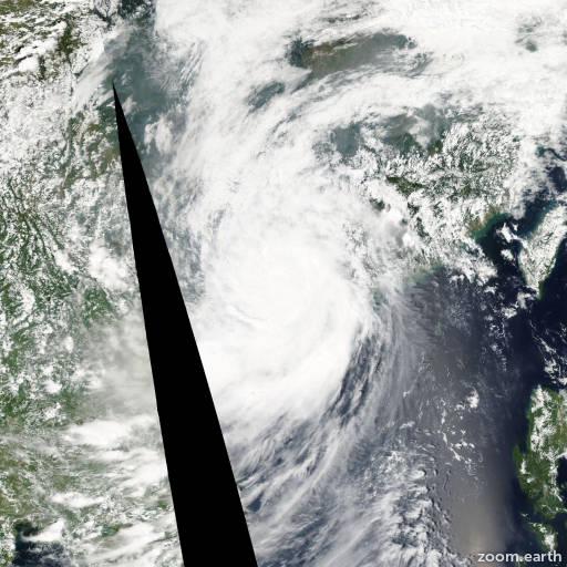 Satellite image of Typhoon Koppu 2009