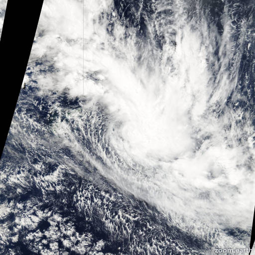 Satellite image of Cyclone Lin 2009
