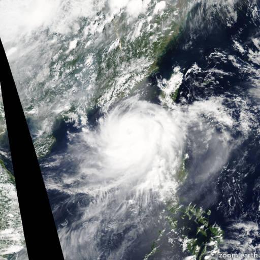 Satellite image of Typhoon Linfa 2009