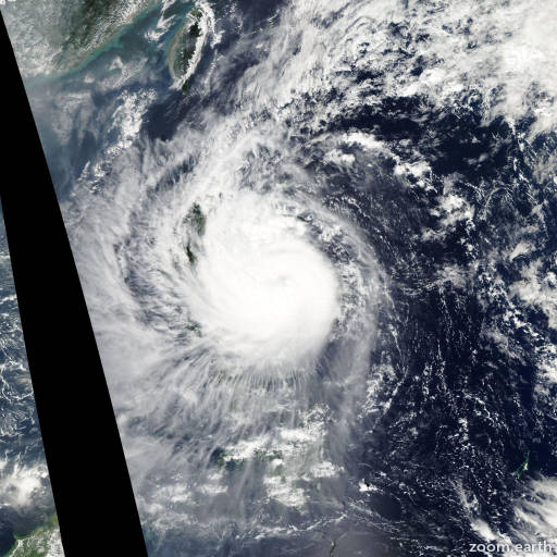 Satellite image of Typhoon Mirinae 2009