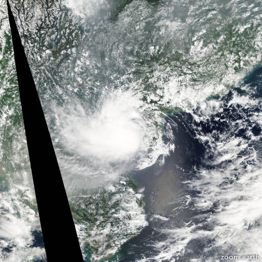 Satellite image of Depression Mujigae 2009