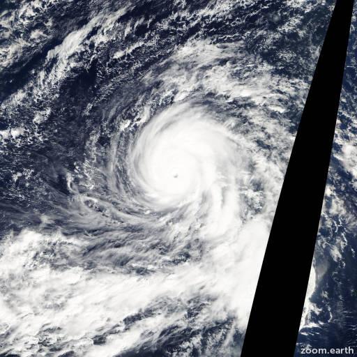 Satellite image of Typhoon Nida 2009