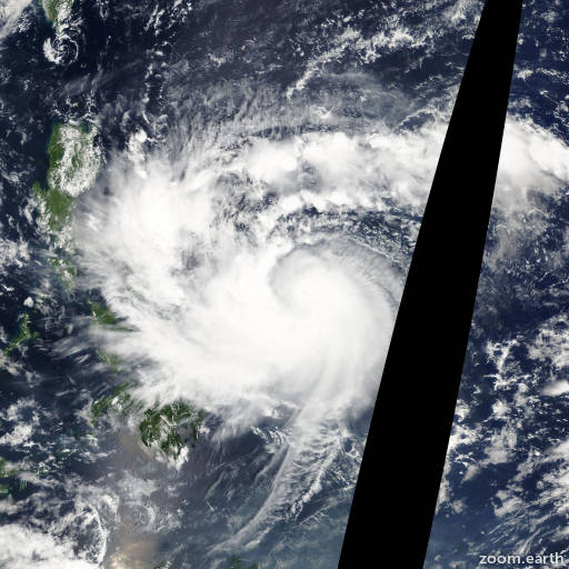 Satellite image of Typhoon Parma 2009