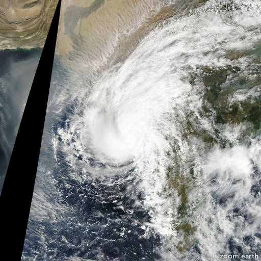 Satellite image of Cyclone Phyan 2009