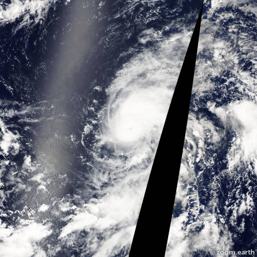 Satellite image of Typhoon Vamco 2009