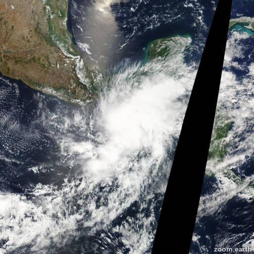 Satellite image of Storm Agatha 2010