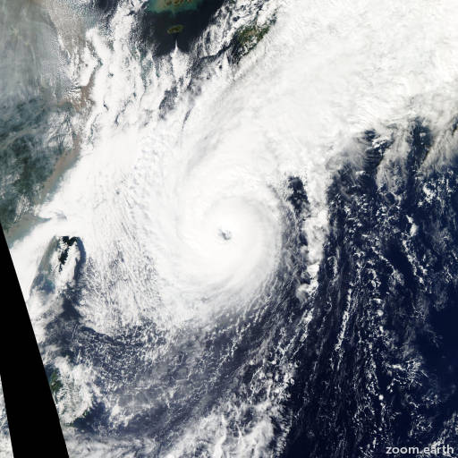 Satellite image of Typhoon Chaba 2010