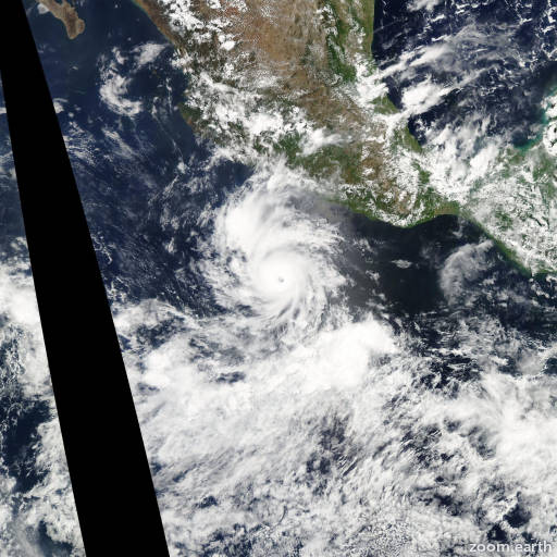Satellite image of Hurricane Darby 2010