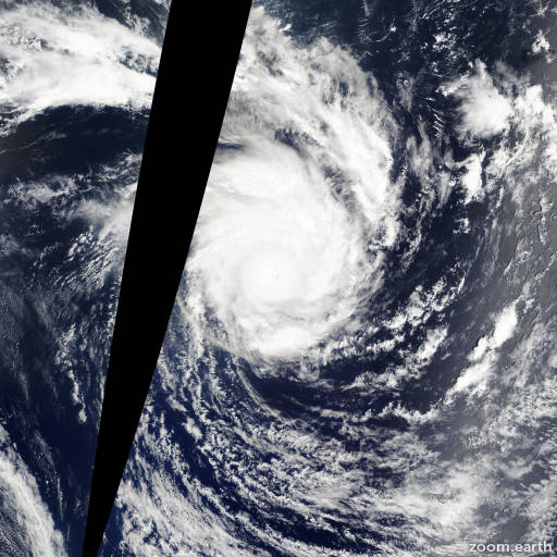 Satellite image of Cyclone Edzani 2010
