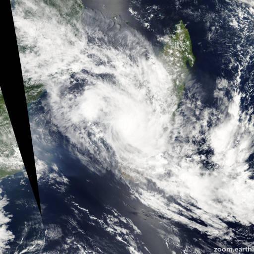 Satellite image of Storm Fami 2010