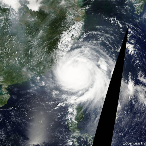 Satellite image of Typhoon Fanapi 2010