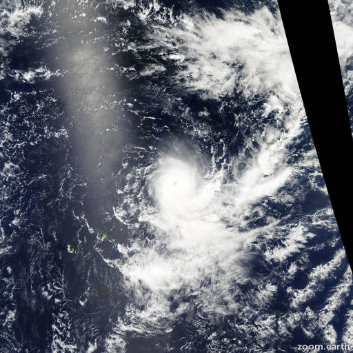 Satellite image of Cyclone Gelane 2010
