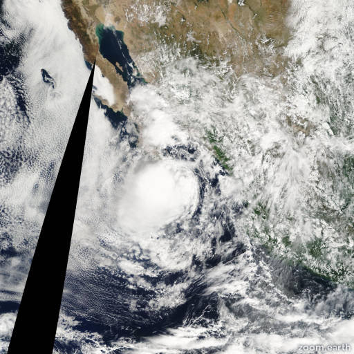 Satellite image of Storm Georgette 2010