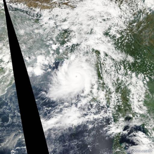 Satellite image of Cyclone Giri 2010