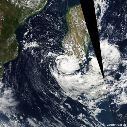 Satellite image of Storm Joel 2010