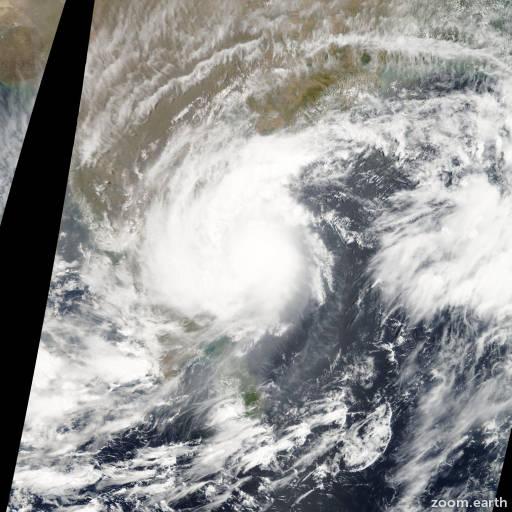 Satellite image of Cyclone Laila 2010