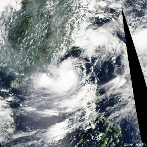 Satellite image of Storm Lionrock 2010