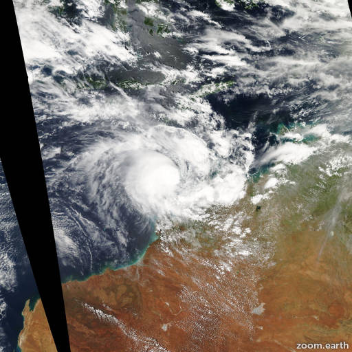 Satellite image of Cyclone Magda 2010