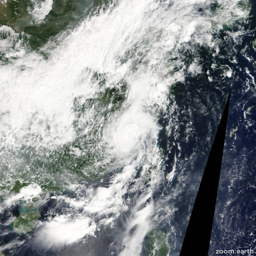 Satellite image of Storm Meranti 2010