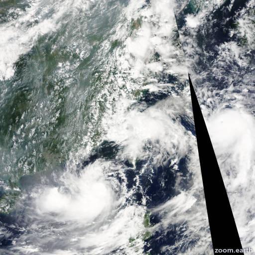 Satellite image of Storm Namtheun 2010